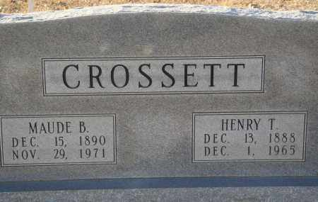 CROSSETT, HENRY T - Grant County, Arkansas | HENRY T CROSSETT - Arkansas Gravestone Photos