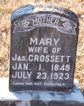 CROSSETT, MARY - Grant County, Arkansas | MARY CROSSETT - Arkansas Gravestone Photos