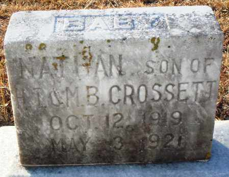 CROSSETT, NATHAN - Grant County, Arkansas | NATHAN CROSSETT - Arkansas Gravestone Photos