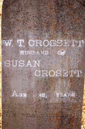 CROSSETT, W. T. - Grant County, Arkansas | W. T. CROSSETT - Arkansas Gravestone Photos