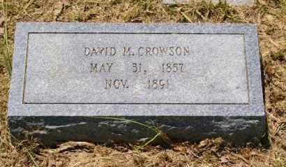 CROWSON, DAVID M. - Grant County, Arkansas | DAVID M. CROWSON - Arkansas Gravestone Photos