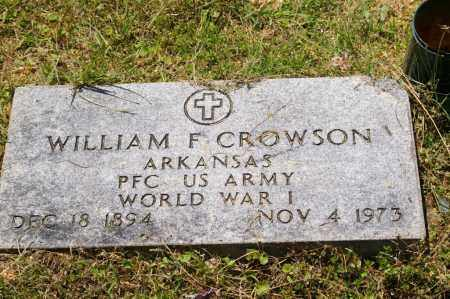 CROWSON (VETERAN WWI), WILLIAM F - Grant County, Arkansas | WILLIAM F CROWSON (VETERAN WWI) - Arkansas Gravestone Photos