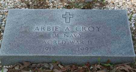 CROY  (VETERAN WWII), ARBIE ALVIN - Grant County, Arkansas | ARBIE ALVIN CROY  (VETERAN WWII) - Arkansas Gravestone Photos