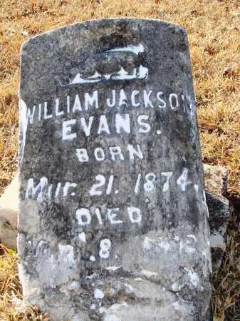 EVANS, WILLIAM JACKSON - Grant County, Arkansas | WILLIAM JACKSON EVANS - Arkansas Gravestone Photos