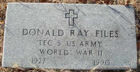 FILES (VETERAN WWII), DONALD RAY - Grant County, Arkansas | DONALD RAY FILES (VETERAN WWII) - Arkansas Gravestone Photos
