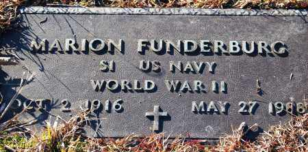 FUNDERBURG (VETERAN WWII), MARION - Grant County, Arkansas | MARION FUNDERBURG (VETERAN WWII) - Arkansas Gravestone Photos