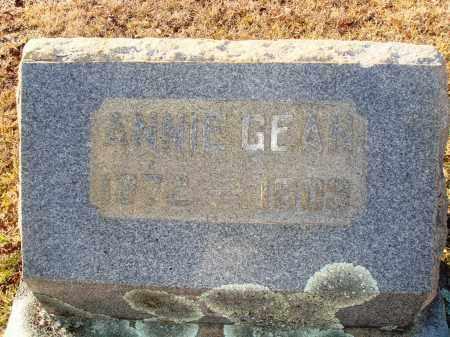 GEAN, ANNIE - Grant County, Arkansas | ANNIE GEAN - Arkansas Gravestone Photos