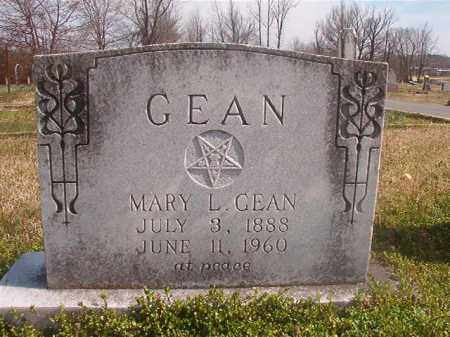 GEAN, MARY L - Grant County, Arkansas | MARY L GEAN - Arkansas Gravestone Photos