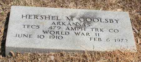 GOOLSBY (VETERAN WWII), HERSHEL M. - Grant County, Arkansas | HERSHEL M. GOOLSBY (VETERAN WWII) - Arkansas Gravestone Photos