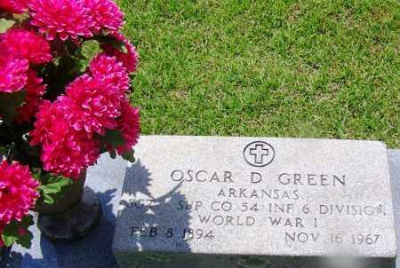 GREEN (VETERAN WWI), OSCAR D - Grant County, Arkansas | OSCAR D GREEN (VETERAN WWI) - Arkansas Gravestone Photos