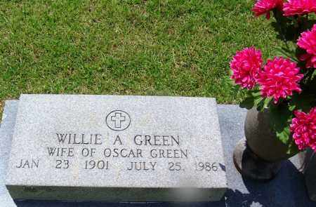 GREEN, WILLIE A - Grant County, Arkansas | WILLIE A GREEN - Arkansas Gravestone Photos