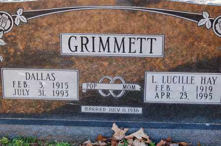 GRIMMETT, DALLAS - Grant County, Arkansas | DALLAS GRIMMETT - Arkansas Gravestone Photos