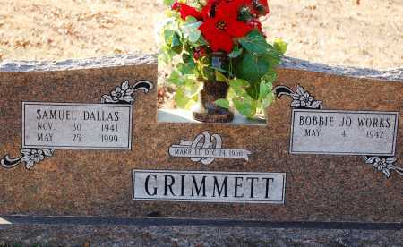 GRIMMETT, SAMUEL DALLAS - Grant County, Arkansas | SAMUEL DALLAS GRIMMETT - Arkansas Gravestone Photos