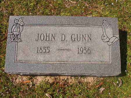 GUNN, JOHN D - Grant County, Arkansas | JOHN D GUNN - Arkansas Gravestone Photos