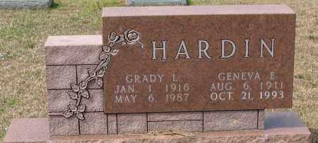 HARDIN, GENEVA E - Grant County, Arkansas | GENEVA E HARDIN - Arkansas Gravestone Photos