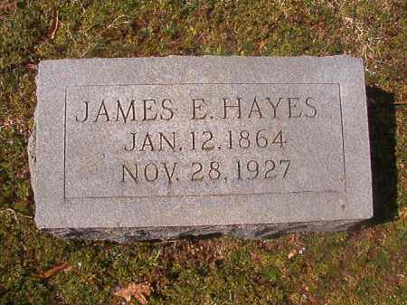 HAYES, JAMES E - Grant County, Arkansas | JAMES E HAYES - Arkansas Gravestone Photos