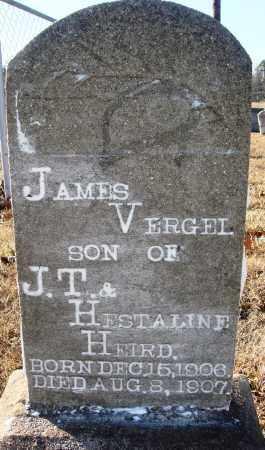 HEIRD, JAMES VERGEL - Grant County, Arkansas | JAMES VERGEL HEIRD - Arkansas Gravestone Photos