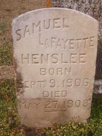 HENSLEE, SAMUEL LAFAYETTE - Grant County, Arkansas | SAMUEL LAFAYETTE HENSLEE - Arkansas Gravestone Photos