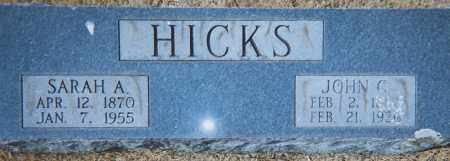 HICKS, SARAH ANN - Grant County, Arkansas | SARAH ANN HICKS - Arkansas Gravestone Photos