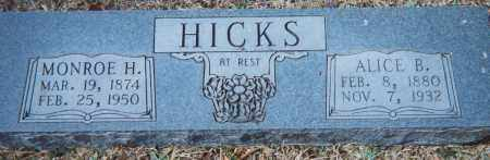 MARSH HICKS, ALICE BERTHA - Grant County, Arkansas | ALICE BERTHA MARSH HICKS - Arkansas Gravestone Photos