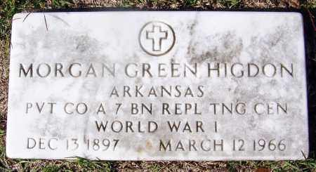 HIGDON (VETERAN WWI), MORGAN GREEN - Grant County, Arkansas | MORGAN GREEN HIGDON (VETERAN WWI) - Arkansas Gravestone Photos