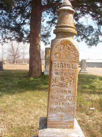 HUETT, SARAH L - Grant County, Arkansas | SARAH L HUETT - Arkansas Gravestone Photos