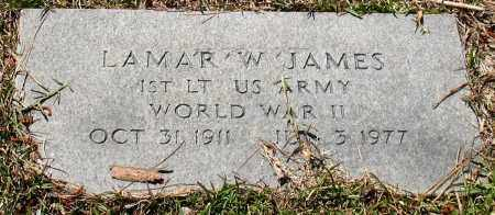 JAMES (VETERAN WWII), LAMAR W. - Grant County, Arkansas | LAMAR W. JAMES (VETERAN WWII) - Arkansas Gravestone Photos