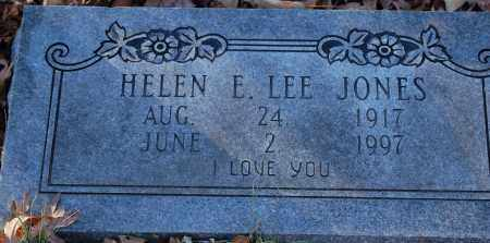 LEE JONES, HELEN E - Grant County, Arkansas | HELEN E LEE JONES - Arkansas Gravestone Photos