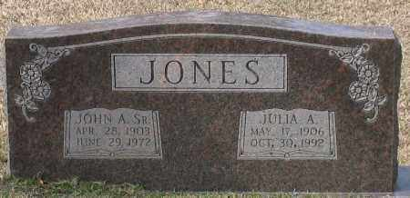 JONES, SR., JOHN A. - Grant County, Arkansas | JOHN A. JONES, SR. - Arkansas Gravestone Photos