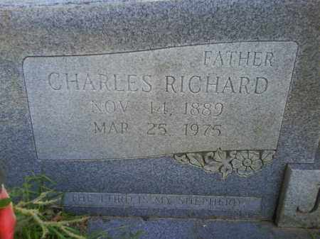 JORDAN, CHARLES RICHARD (CLOSEUP) - Grant County, Arkansas | CHARLES RICHARD (CLOSEUP) JORDAN - Arkansas Gravestone Photos