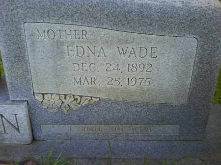 WADE JORDAN, EDNA (CLOSEUP) - Grant County, Arkansas | EDNA (CLOSEUP) WADE JORDAN - Arkansas Gravestone Photos