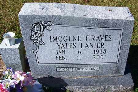 LANIER, IMOGENE GRAVES - Grant County, Arkansas | IMOGENE GRAVES LANIER - Arkansas Gravestone Photos
