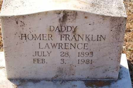 LAWRENCE, HOMER FRANKLIN - Grant County, Arkansas | HOMER FRANKLIN LAWRENCE - Arkansas Gravestone Photos
