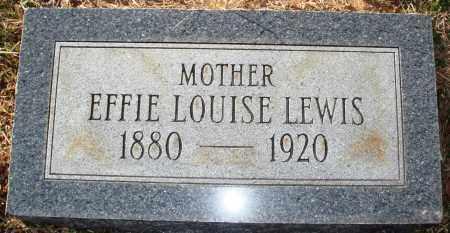 LEWIS, EFFIE LOUISE - Grant County, Arkansas | EFFIE LOUISE LEWIS - Arkansas Gravestone Photos