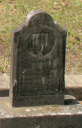 LINDSEY, FRANKLIN W. - Grant County, Arkansas | FRANKLIN W. LINDSEY - Arkansas Gravestone Photos