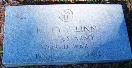 LINN (VETERAN WWI), RILEY J - Grant County, Arkansas | RILEY J LINN (VETERAN WWI) - Arkansas Gravestone Photos