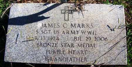 MARKS (VETERAN WWII), JAMES C - Grant County, Arkansas   JAMES C MARKS (VETERAN WWII) - Arkansas Gravestone Photos