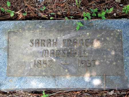 MARSHALL, SARAH FRANCES - Grant County, Arkansas | SARAH FRANCES MARSHALL - Arkansas Gravestone Photos