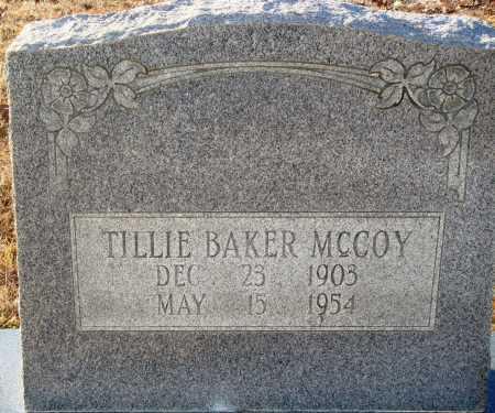 BAKER MCCOY, TILLIE - Grant County, Arkansas | TILLIE BAKER MCCOY - Arkansas Gravestone Photos