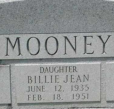 MOONEY, BILLIE JEAN - Grant County, Arkansas | BILLIE JEAN MOONEY - Arkansas Gravestone Photos