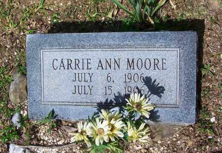 MOORE, CARRIE ANN - Grant County, Arkansas | CARRIE ANN MOORE - Arkansas Gravestone Photos