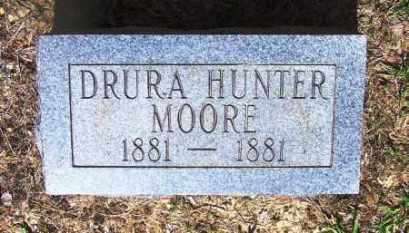 MOORE, DRURA HUNTER - Grant County, Arkansas | DRURA HUNTER MOORE - Arkansas Gravestone Photos