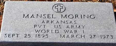 MORING (VETERAN WWI), MANSEL - Grant County, Arkansas   MANSEL MORING (VETERAN WWI) - Arkansas Gravestone Photos