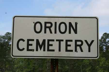 *ORION CEMETERY SIGN,  - Grant County, Arkansas |  *ORION CEMETERY SIGN - Arkansas Gravestone Photos