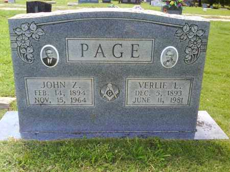 PAGE, VERLIE L. - Grant County, Arkansas | VERLIE L. PAGE - Arkansas Gravestone Photos