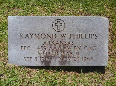 PHILLIPS  (VETERAN WWII), RAYMOND W - Grant County, Arkansas | RAYMOND W PHILLIPS  (VETERAN WWII) - Arkansas Gravestone Photos