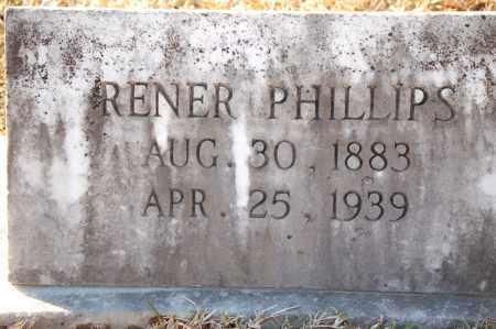 PHILLIPS, RENER - Grant County, Arkansas   RENER PHILLIPS - Arkansas Gravestone Photos
