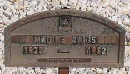 RAINS, MADINE - Grant County, Arkansas | MADINE RAINS - Arkansas Gravestone Photos
