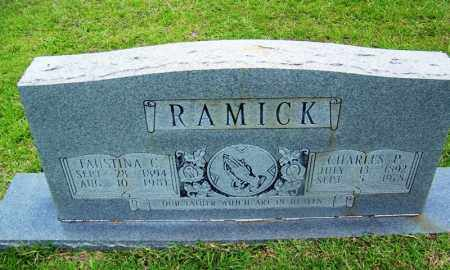 RAMICK, FAUSTINA C - Grant County, Arkansas | FAUSTINA C RAMICK - Arkansas Gravestone Photos