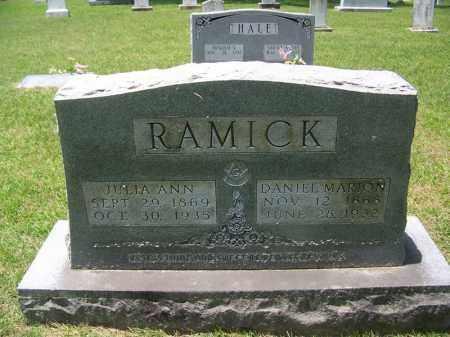 RAMICK, DANIEL MARION - Grant County, Arkansas | DANIEL MARION RAMICK - Arkansas Gravestone Photos